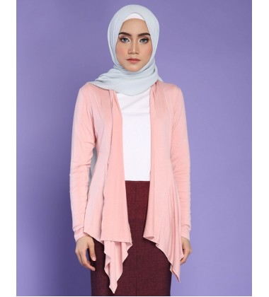 FATIN jersey knit cardigan in Soft Pink