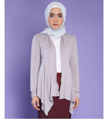 FATIN jersey knit cardigan in Grey
