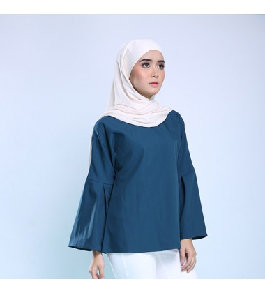 HADLEY Top With Bell Sleeve in Teal