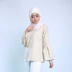 HADLEY Top With Bell Sleeve in Beige