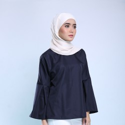 HADLEY Top With Bell Sleeve in Navy Blue