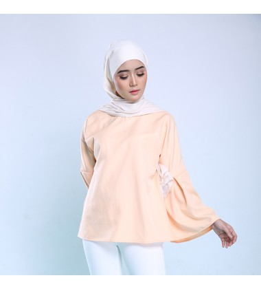 HADLEY Top With Bell Sleeve in Peach