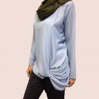 SOURI Matellic Chiffon Top