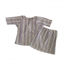 STRIPE PRINT COTTON JERSEY BAJU KURUNG BABY GIRL