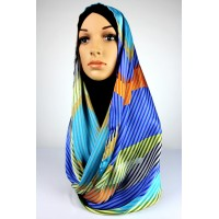 AANISA colourful stripe shawl