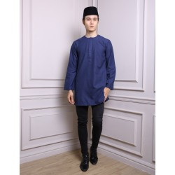 SYAFIQ Kurta in Dark Blue