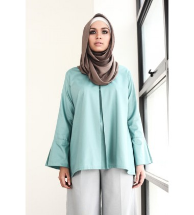 UFAIRAH soft cotton bell sleeves top
