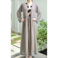 DARYA Stripe with Sequin Kaftan