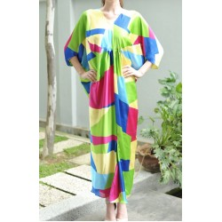 MAHTA colorful draped kaftan