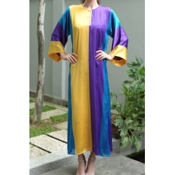 MELIKA Stripe Straight Cut Kaftan