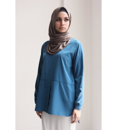 FAIHA hi lo top with organza