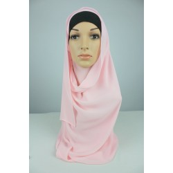 LIYANA Soft Chiffon Shawl with Tie in Baby Pink