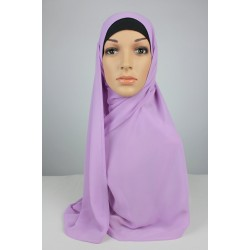 LIYANA Soft Chiffon Shawl with Tie in Lilac