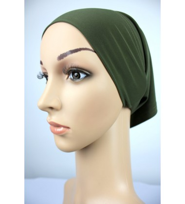 NFY Lycra Jersey Open End Head Inner in  Army Green