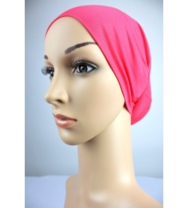 NFY Cotton Jersey Open End Head Inner in Coral Pink