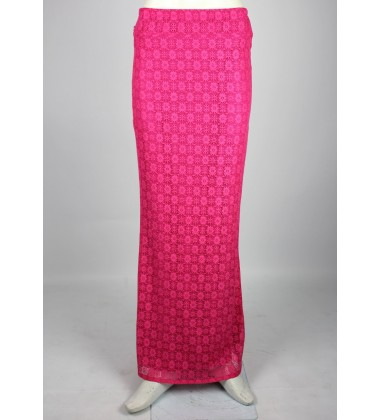 ALYANA Stretch Mermaid Cut Skirt in Pink