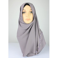 ARAFA Linked Embellished Shawl in Grey