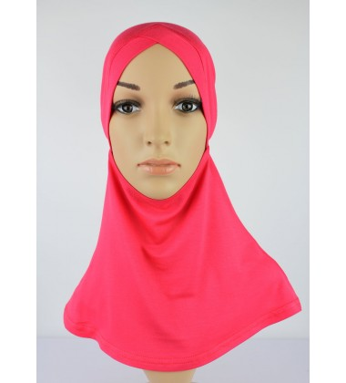 NFY Head and Neck Inner Cotton Jersey in Coral Pink