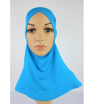 NFY V Shape Head & Neck Inner Cotton Jersey in Bright Blue