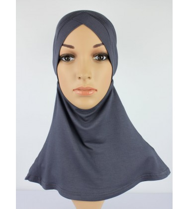 NFY Head and Neck Inner Cotton Jersey in Dark Grey