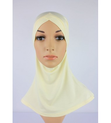 NFY Head and Neck Inner Cotton Jersey in Cream