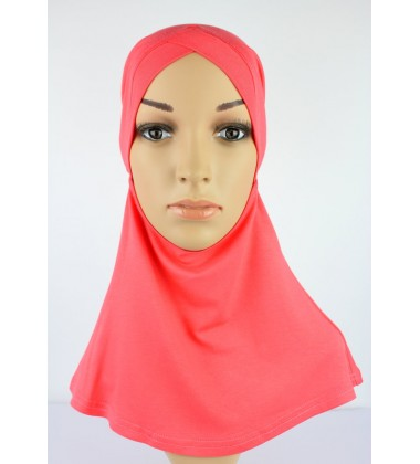 NFY Head and Neck Inner Cotton Jersey in Salmon Pink