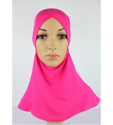NFY Head and Neck Inner Cotton Jersey in Fuchsia Pink