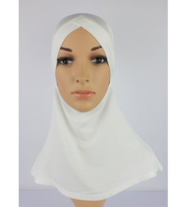 NFY Head and Neck Inner Cotton Jersey in White