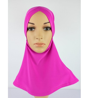 NFY V Shape Head & Neck Inner Lycra in Fuschia Pink