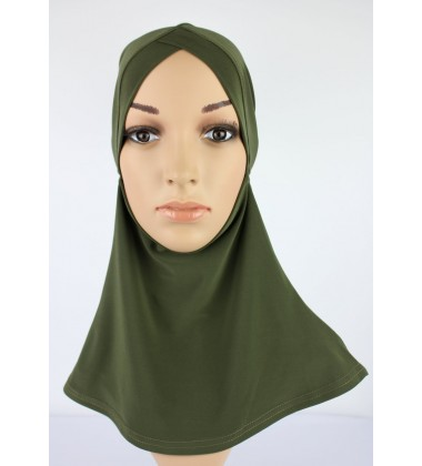 NFY V Shape Head & Neck Inner Lycra in Army Green