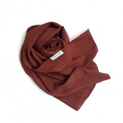 MELUR plain shawl in Brown