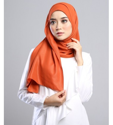 SALMA metalic chiffon shawl in Caramel Brown