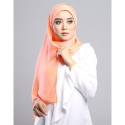 SALMA metalic chiffon shawl in Peach