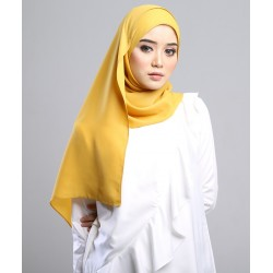 SALMA metalic chiffon shawl in Tuscan Yellow