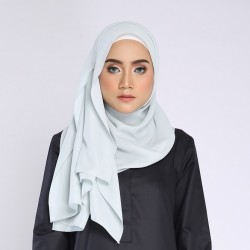 SALMA metalic chiffon shawl in Pastel Green