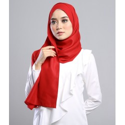 SALMA metalic chiffon shawl in Red Ruby