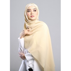 SARIMA Stretch Crepe Scarf in Biscotti Yellow
