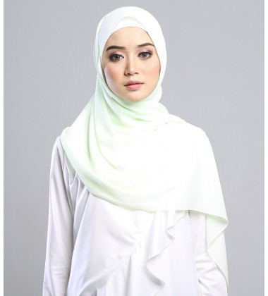 SARIMA Stretch Crepe Scarf in Soft Lime