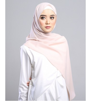 SARIMA Stretch Crepe Scarf in Blush Pink