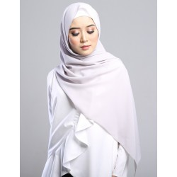 SARIMA Stretch Crepe Scarf in Stone Grey